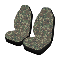 Forest Camouflage Pattern Car Seat Covers (Set of 2)