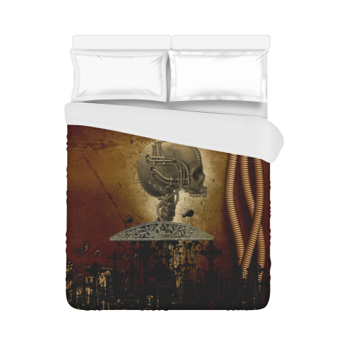 "Mechanical skull Duvet Cover 86""x70"" ( All-over-print)"