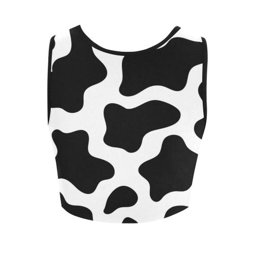 Fat Cow Crop Women's Crop Top (Model T42)