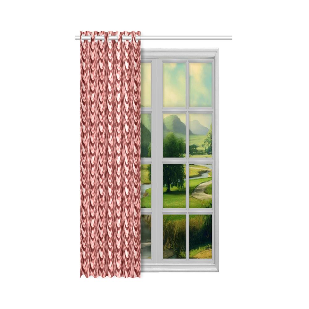 """Burgundy fold waves New Window Curtain 50"""" x 84""""(One Piece)"""
