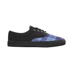STRIPES LIGHT BLUE Aries Men's Canvas Shoes (Model 029)