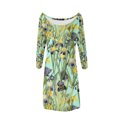 Irises Bateau A-Line Skirt (D21)