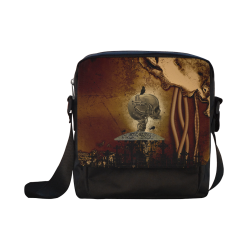 Mechanical skull Crossbody Nylon Bags (Model 1633)
