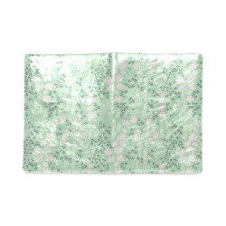 Mint Floral Pattern Custom NoteBook B5