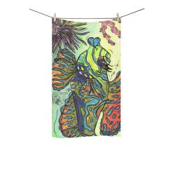 """Mindy the Mandarin Fish towel Custom Towel 16""""x28"""""""