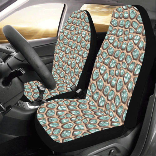 Green crystals Car Seat Covers (Set of 2)