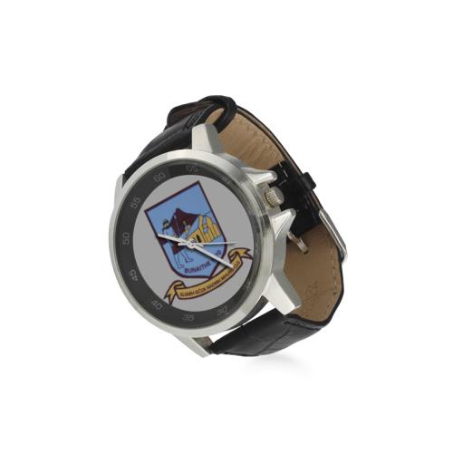 Sliabh gCua St. Mary's Gaa Club Watch Unisex Stainless Steel Leather Strap Watch(Model 202)