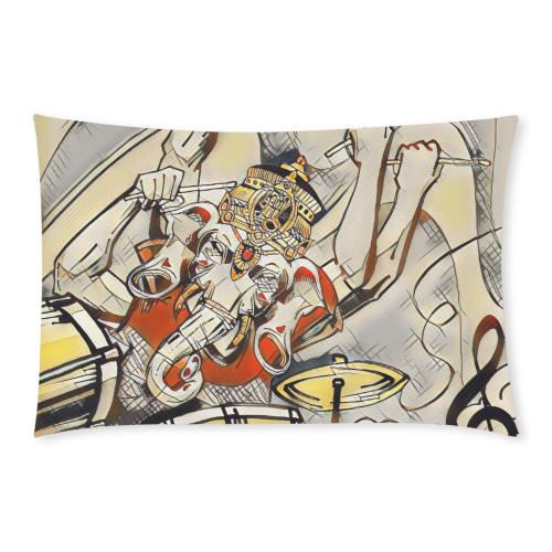 Ganesha Drummer Hoodie  - Burnt Orange, Yellow, and White 3-Piece Bedding Set