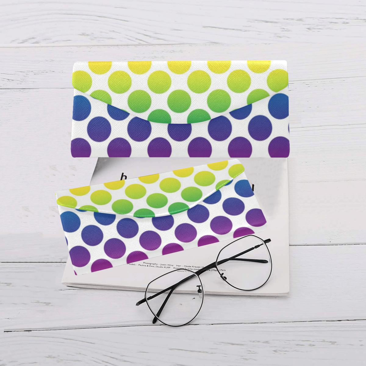 Rainbow Polka Dots Custom Foldable Glasses Case