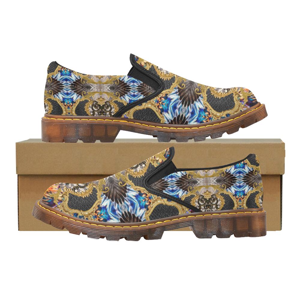 Luxury Abstract Design Martin Women's Slip-On Loafer (Model 12031)