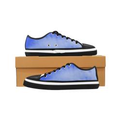Blue Clouds Women's Canvas Zipper Shoes (Model 001)