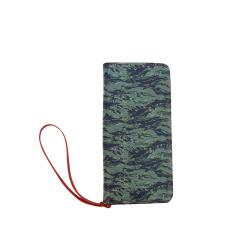 Jungle Tiger Stripe Green Camouflage Women's Clutch Wallet (Model 1637)
