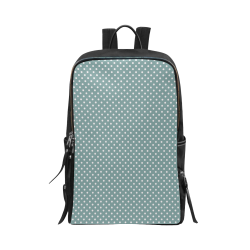 Silver blue polka dots Unisex Slim Backpack (Model 1664)