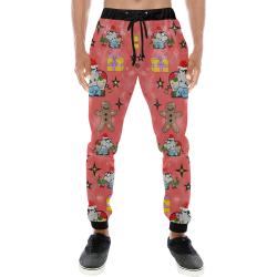 Christmas elephant by Nico Bielow Men's All Over Print Sweatpants (Model L11)