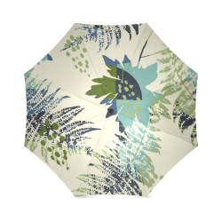 Trendy Tropical Shades of Green Foldable Umbrella (Model U01)