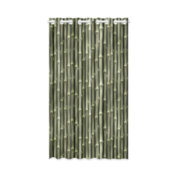 "Bamboo forest New Window Curtain 52"" x 84""(One Piece)"