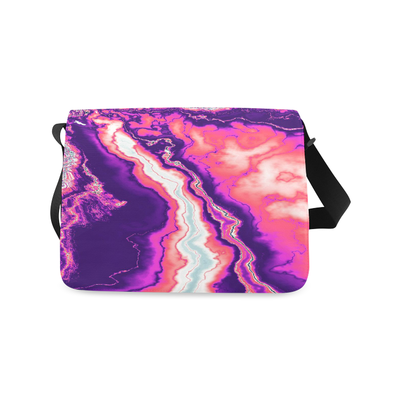 Pink and Purple Geode Messenger Bag (Model 1628)