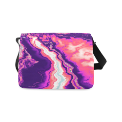 Pink and Purple Geode Messenger Bag (Model 1628)
