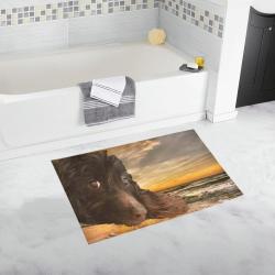 Dog and Sunset_01a Bath Rug 20''x 32''