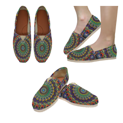 psychedelic shoes Women's Classic Canvas Slip-On (Model 1206)