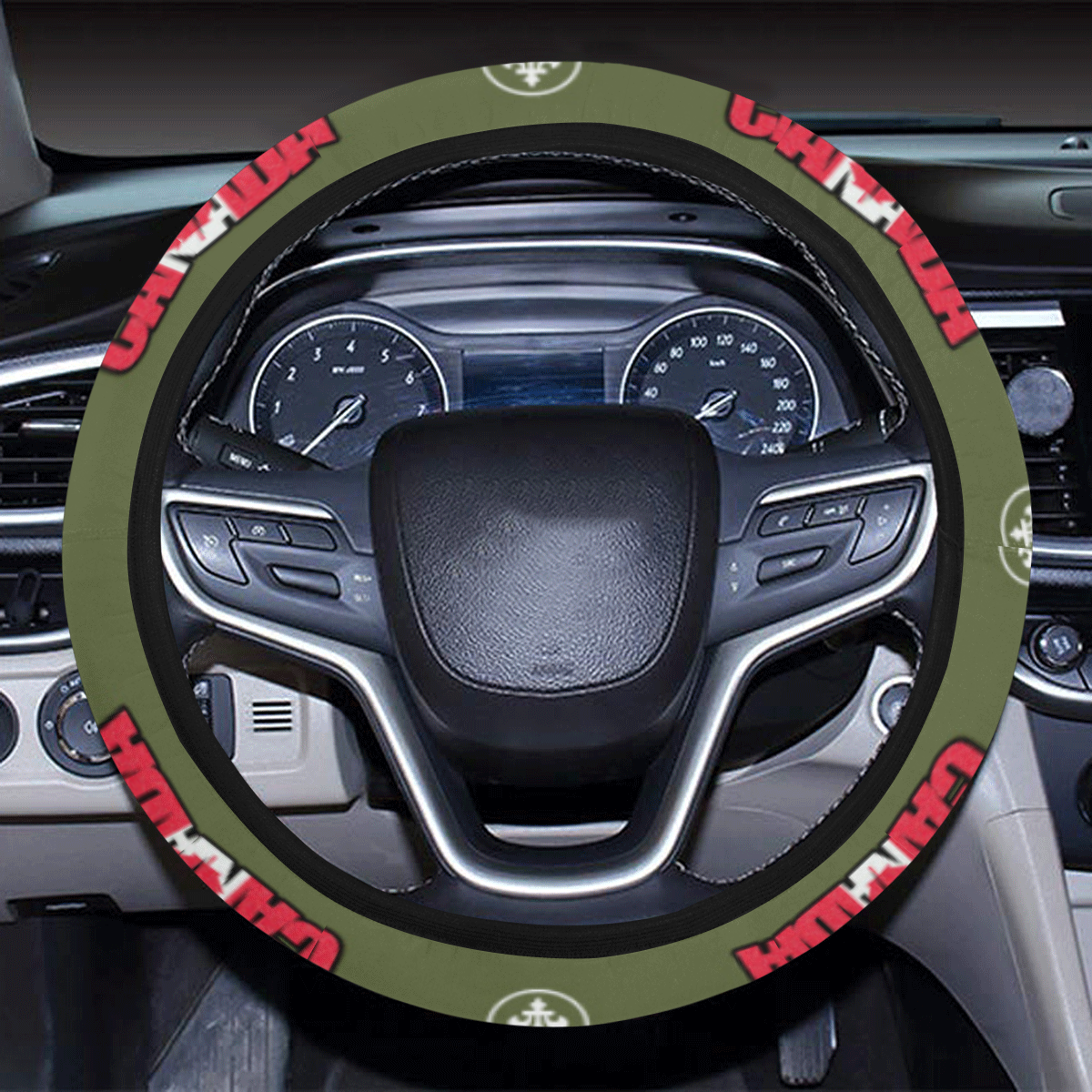 Canada 2 Steering Wheel Cover with Elastic Edge