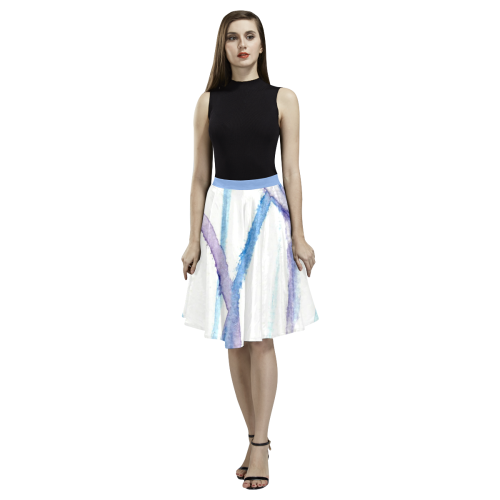 Lines Melete Pleated Midi Skirt (Model D15)