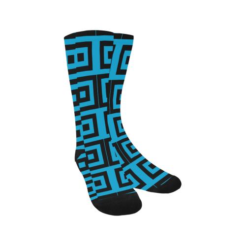 Blue-Black Pattern Trouser Socks