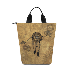 Steampunk Dreamcatcher Nylon Lunch Tote Bag (Model 1670)