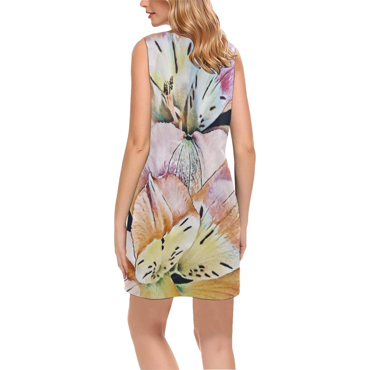 Impression Floral 10192 by JamColors Phoebe Sleeveless V-Neck Dress (Model D09)
