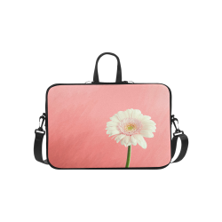 Gerbera Daisy - White Flower on Coral Pink Macbook Pro 15''