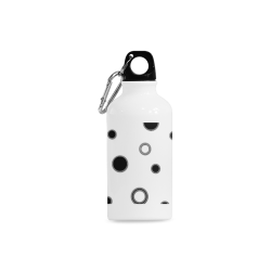 Black Polka Dots Cazorla Sports Bottle(13.5OZ)