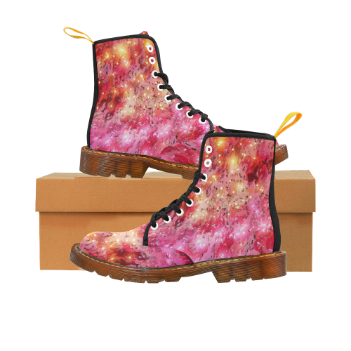Sparkling Pink by Jera Nour Martin Boots For Women Model 1203H