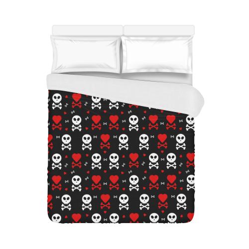 """Skull and Crossbones Duvet Cover 86""""x70"""" ( All-over-print)"""