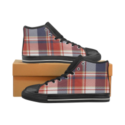 Tartan Plaid Men's Shoes Men's Classic High Top Canvas Shoes (Model 017)