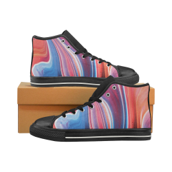 oil_b Women's Classic High Top Canvas Shoes (Model 017)