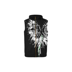 Phoenix - Abstract Painting Bird White 1 All Over Print Sleeveless Zip Up Hoodie for Kid (Model H16)