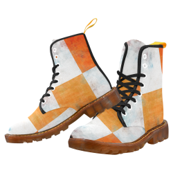 Watercolor Pop Orange by Jera Nour Martin Boots For Men Model 1203H