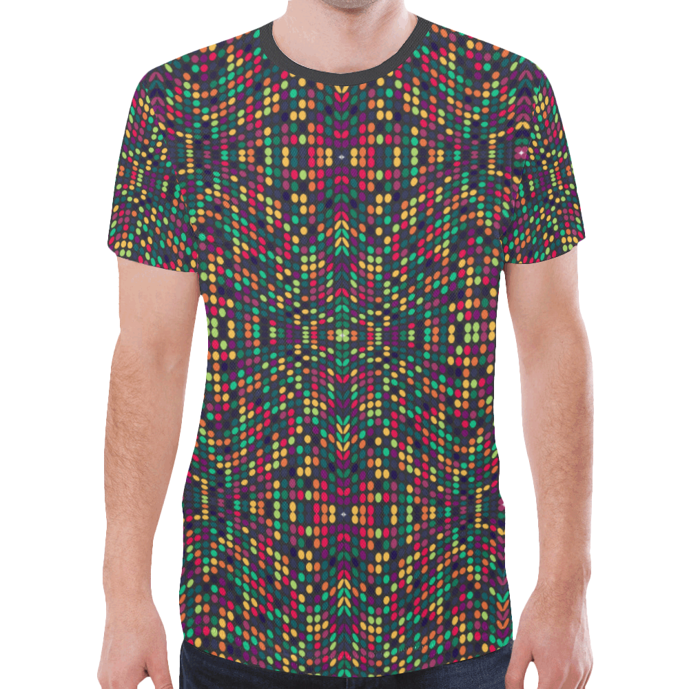 dots large New All Over Print T-shirt for Men (Model T45)
