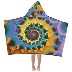 Spiral colorful Kids' Hooded Bath Towels