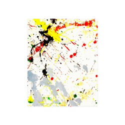 "Yellow & Black Paint Splatter Poster 16""x20"""