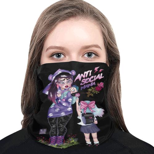 Antisocial mama Multifunctional Dust-Proof Headwear