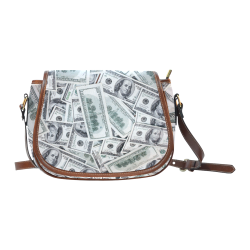 Cash Money / Hundred Dollar Bills Saddle Bag/Large (Model 1649)