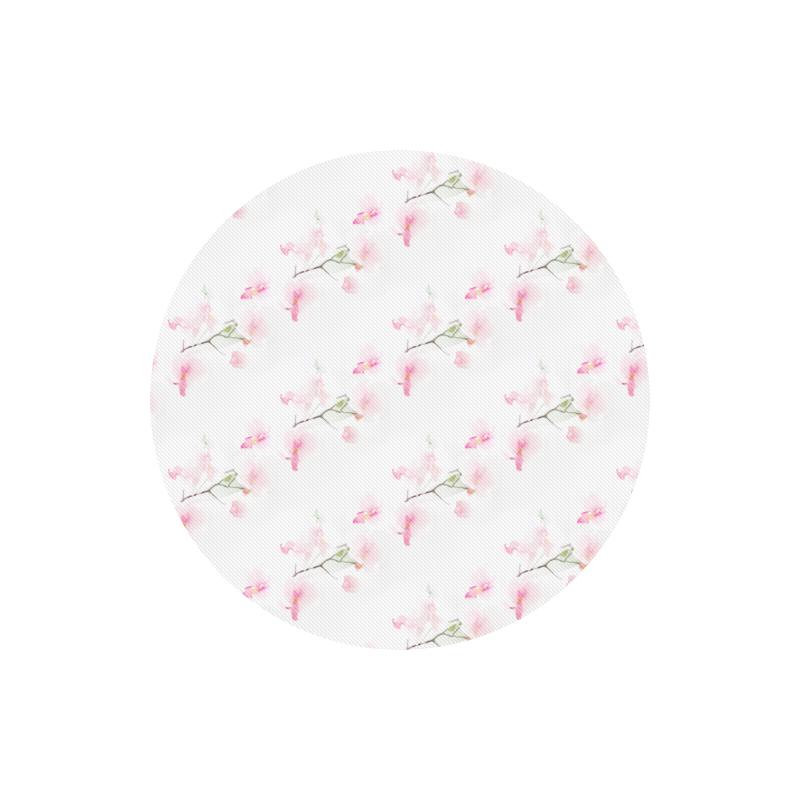 Pattern Orchidées Round Mousepad