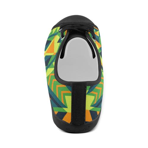 Modern Geometric Pattern Women's Canvas Shoes (Model 016)