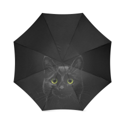 Black Cat Foldable Umbrella (Model U01)