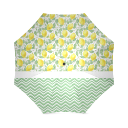 Lemons With Chevron Foldable Umbrella (Model U01)