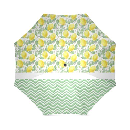 Lemons With Chevron Foldable Umbrella (Model U01)