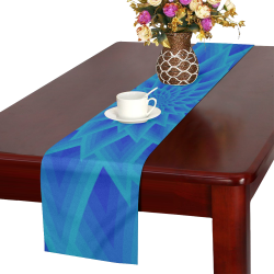 Ancient blue flower Table Runner 16x72 inch