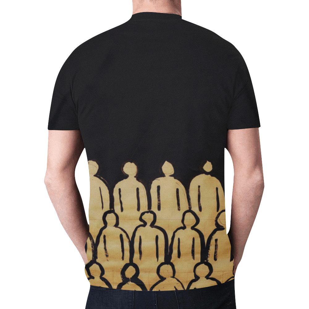 crowd trans New All Over Print T-shirt for Men (Model T45)