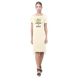 Powered by Plants (vegan) Short Sleeves Casual Dress(Model D14)